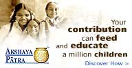 Donate NOW, your contribution can feed & educate 1 mn children
