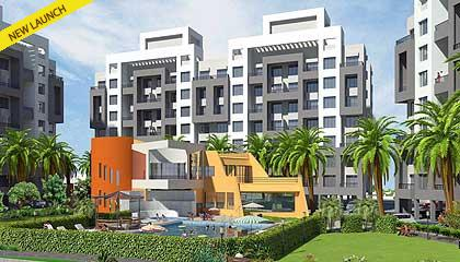 Flat in Margosa Heights ,Near Corinthian Club Pune